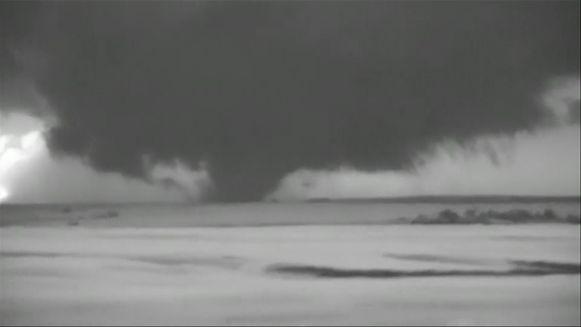 Enorme trechterwolk boven Texas