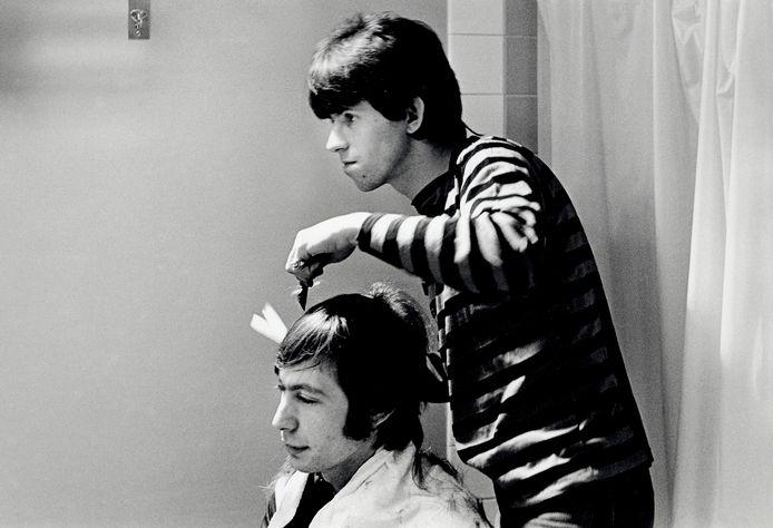Charlie Watts (links) en Keith Richards.