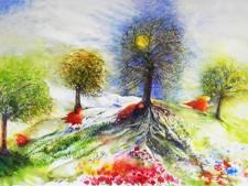 Kunstenares Marjan dook meerdere keren in de genenpoel van vader Gerard de Nijs