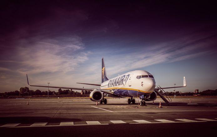 Un avion Ryanair sur le tarmac de l'aéroport de Charleroi, juin 2020.