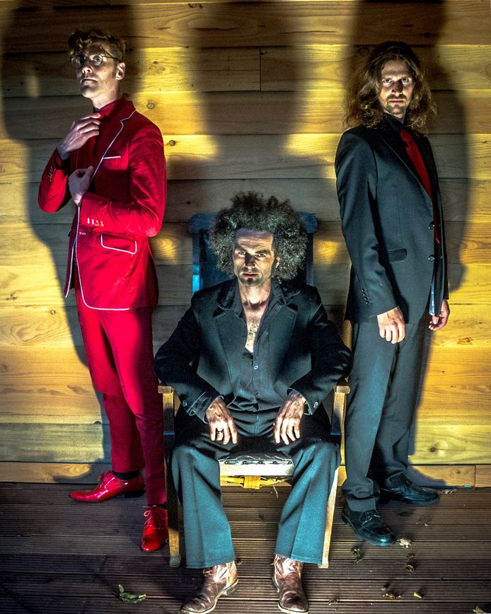 Vanaf links: Ben Groenen,  Robert den Hartigh  en Dominik Sehlbach, samen Black Djangos. Black Djangos.