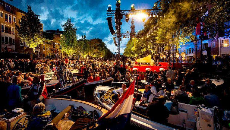 Het Prinsengrachtconcert tijdens het Grachtenfestival Beeld anp