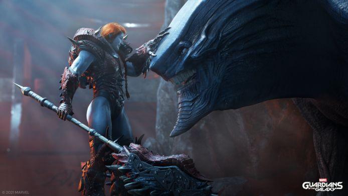 De grote 'baddie' van de game, Lady Hellbender, vond nog niet haar weg naar de Marvel-films: ze komt recht uit de strips.