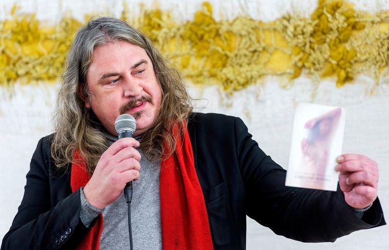 Romanschrijver, dichter, columnist en opiniemaker Ilja Leonard Pfeijffer is vanavond te gast in 'Alleen Elvis blijft bestaan' Beeld ANP Kippa