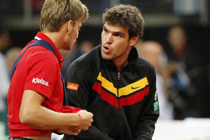 Germain Gigounon en Coupe Davis avec David Goffin il y a plusieurs années.