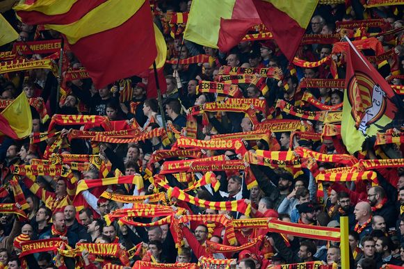 De fans van KV Mechelen.