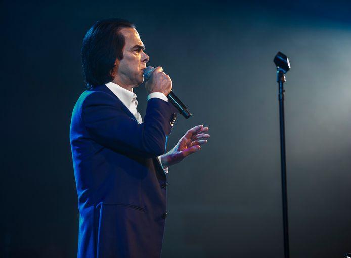Nick Cave tijdens een optreden in Londen.