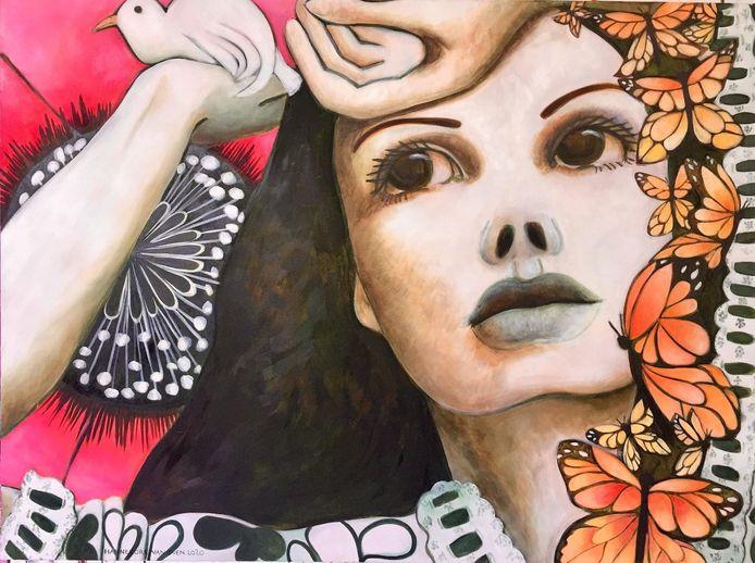 Onder meer dit kunstwerk is te zien tijdens de kunstenroute in Baarle-Hertog