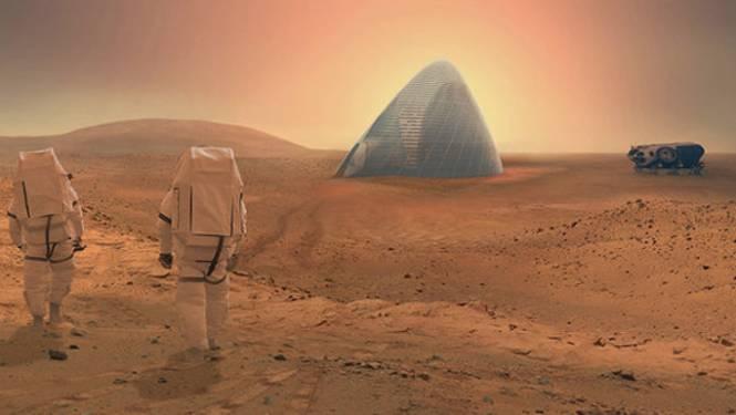 Dit is het winnende ontwerp van NASA voor 3D-geprinte huizen op Mars