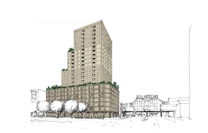 De bouw van wooncomplex De Grote Beer naast het Alexandrium moet nog dit jaar beginnen.