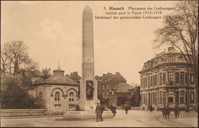 Eén van de vele oude prentbriefkaarten uit 1900 die een blik tonen op het oude Hasselt.