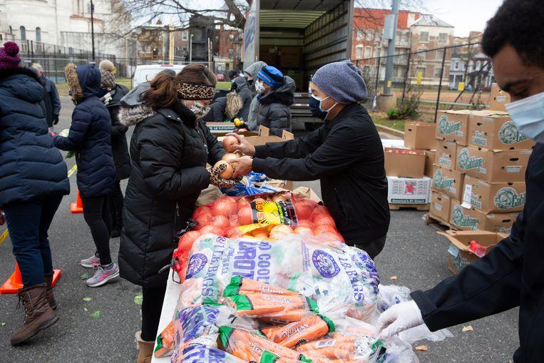 Voedselhulp in Washington, DC. Beeld EPA