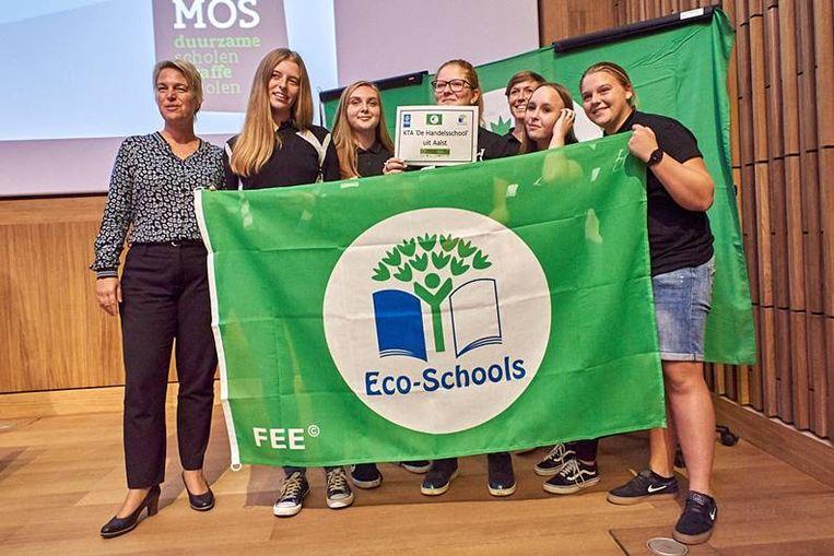 De Handelsschool met minister Schauvliege.