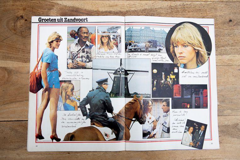 Links in beeld staat de jongere Yolande van Andel: 'Ik paste helemaal niet tussen de pitspoezen, ik was een strandmeid'.  Beeld Pauline Niks