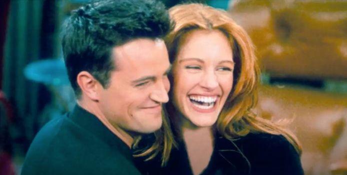 Matthew Perry en Julia Roberts in 'Friends'