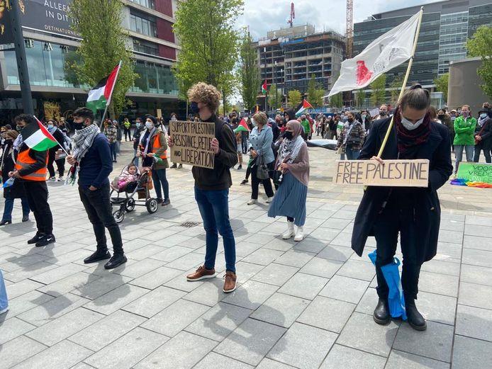 Opnieuw een demonstratie voor Palestina op het Jaarbeursplein in Utrecht.