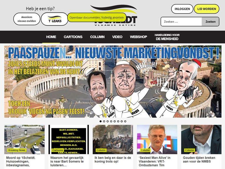 De homepage van 't Scheldt. Beeld rv/'t Scheldt