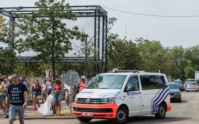 Véhicule de police à Tomorrowland, en juillet dernier