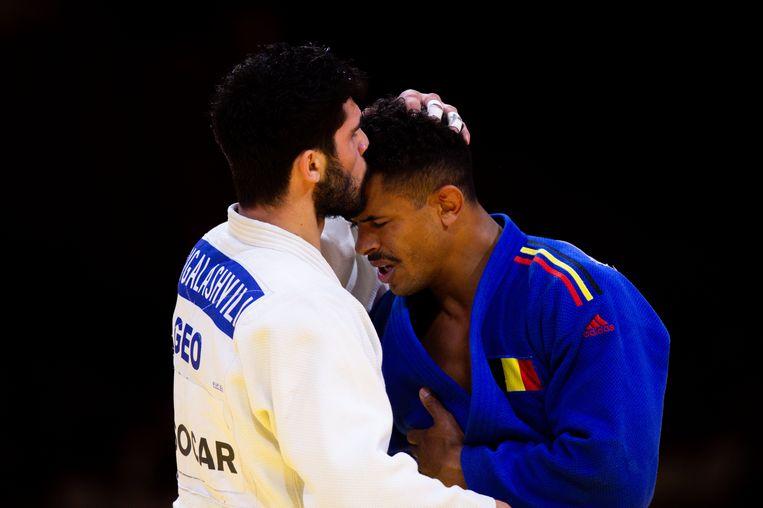 Grigalashvili was in de kwartfinale te sterk voor Brusselaar Sami Chouchi. Beeld Photo News