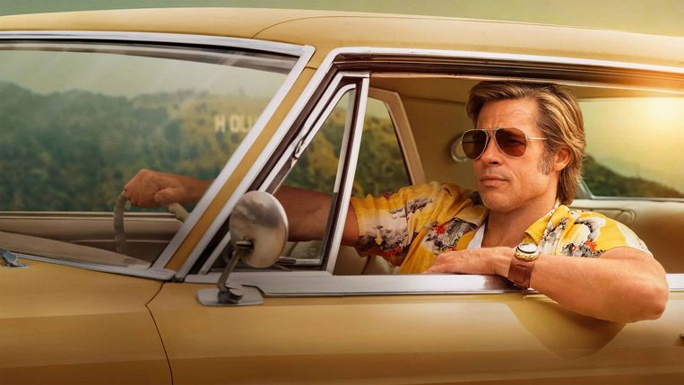 Brad Pitt in 'Once Upon a Time in Hollywood'.  Beeld rechten vrij