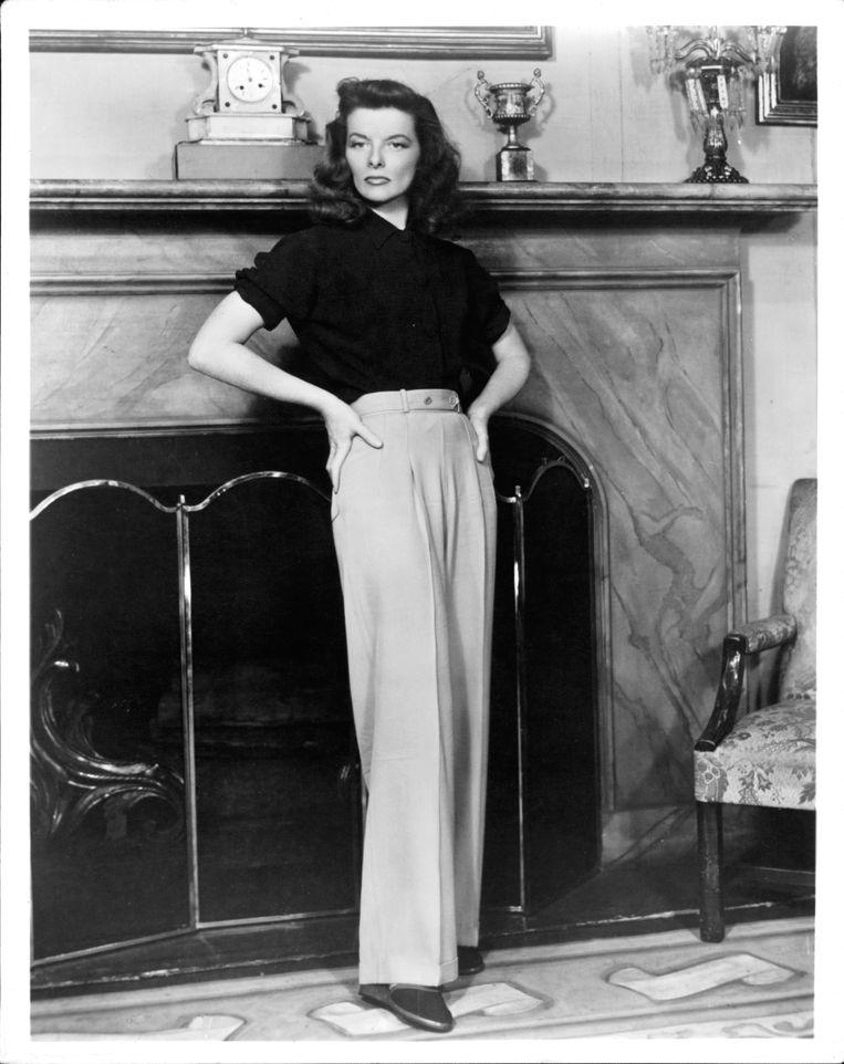 Katharine Hepburn in 'The Philadelphia Story', 1940.  Beeld Getty Images