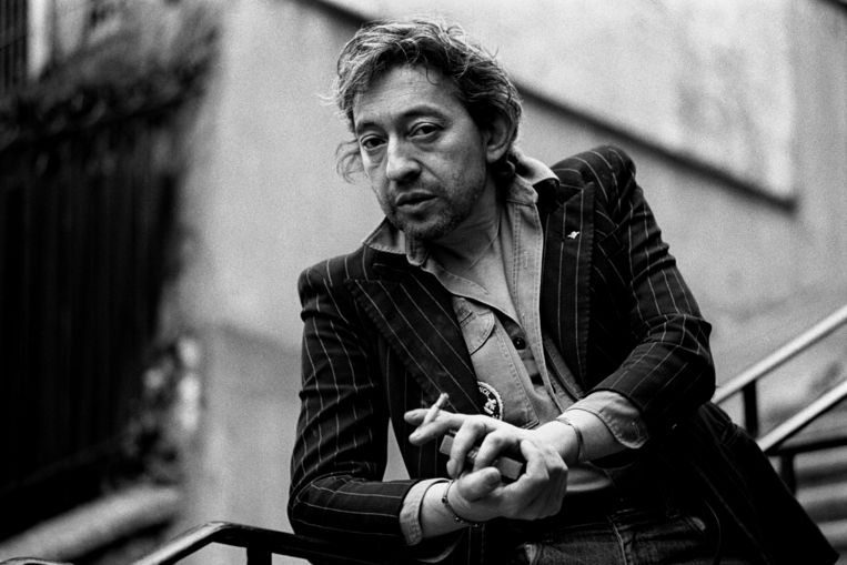 Serge Gainsbourg in 1980 Beeld Getty Images