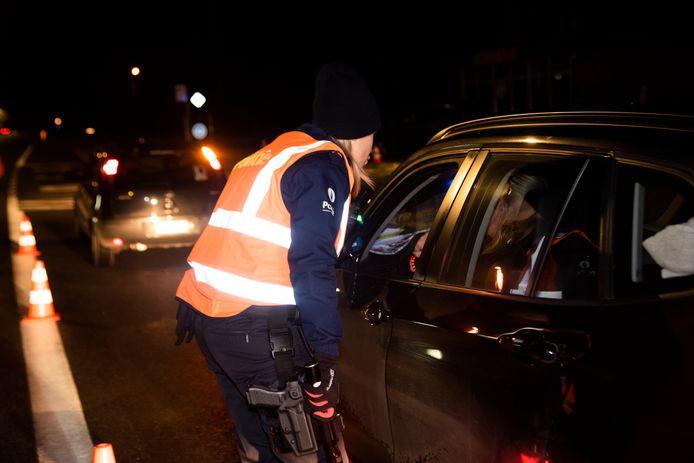 ARCHIEFBEELD: BOB controle in de politiezone Wetteren Laarne en Wichelen (PZWLW)