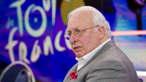 Mart Smeets tijdens de presentatie van het programma De Avondetappe in juni 2013.