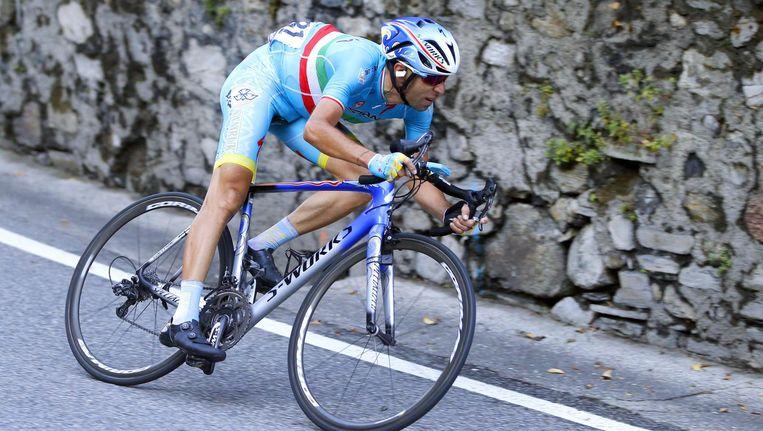 De Italiaanse wielrenner Vincenzo Nibali tijdens de Giro di Lombardia in 2015. Beeld afp