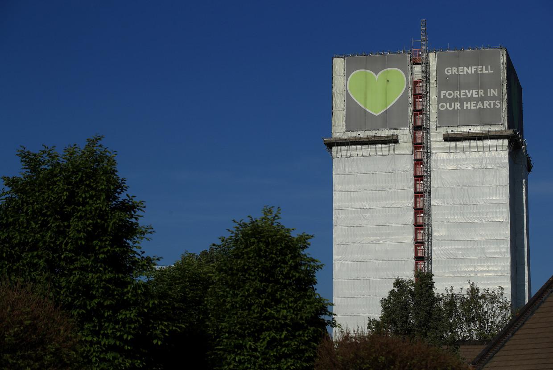 Drie jaar geleden stierven 72 mensen bij een brand in de toren. Beeld Getty Images