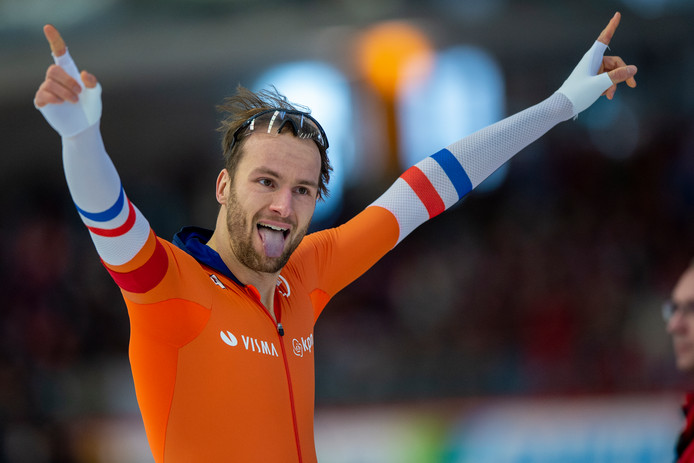 Even is de spanning er af. Thomas Krol pakt WK-zilver op de 1000 meter.
