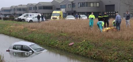 Bestuurder belandt in sloot bij ongeluk in Waalwijk