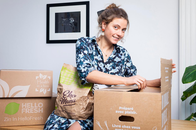"""Diëtiste Sanne Mouha: """"Een foodbox moet je minder stress geven, niet meer. Als het puzzelen wordt of zorgt voor wrevel in het gezin, dan laat je het beter."""" Beeld Steven Richardson"""