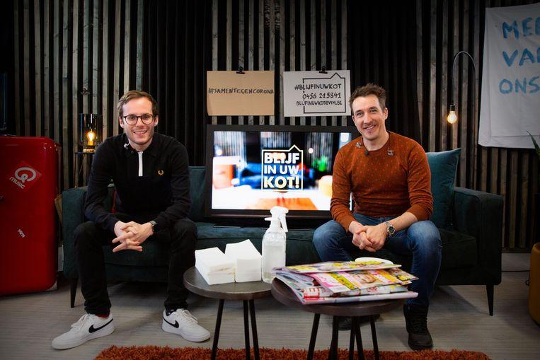 Op woensdag presenteerden Vincent Fierens en Andy Peelman 'Blijf in uw kot!'.