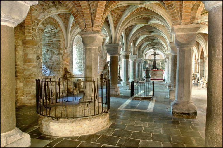 De crypte van de Sint-Hermeskerk, waar de relieken van Sint-Hermes worden bewaard.