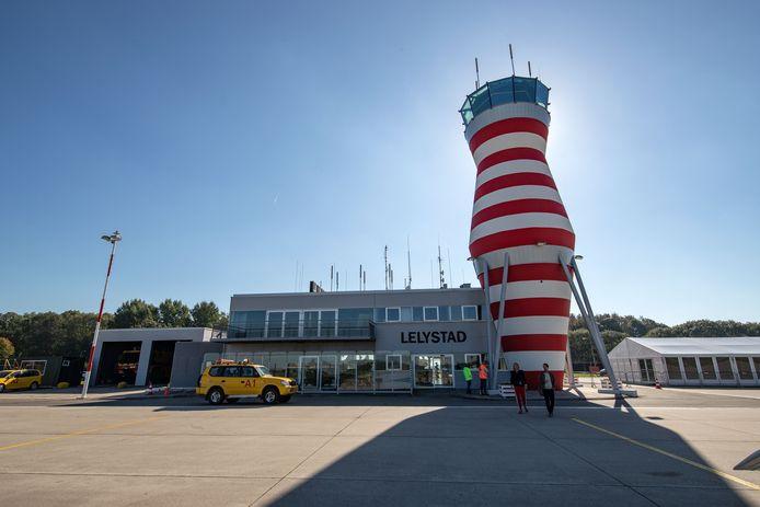 Lelystad Airport in aanleg.