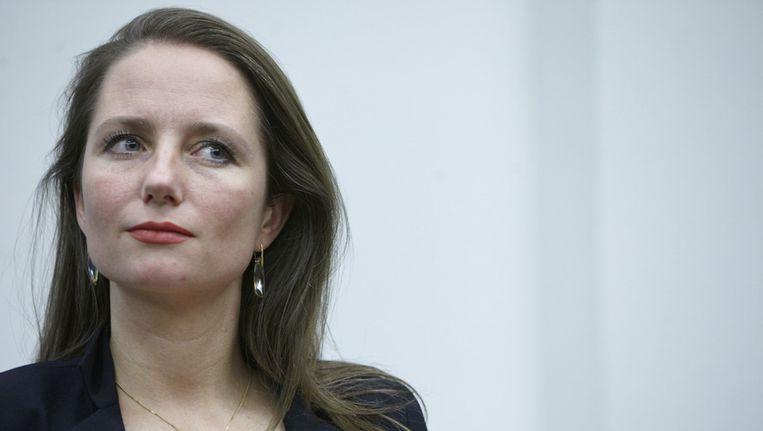 Fleur Agema begin juli bij de presentatie van het PVV-verkiezingsprogramma. Beeld Martijn Beekman / de Volkskrant