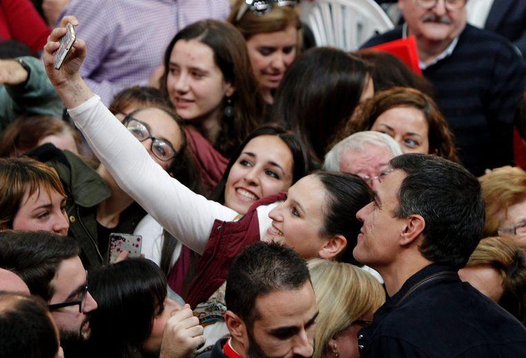 De socialistische PSOE-leider Pedro Sanchez op de foto. Beeld AFP