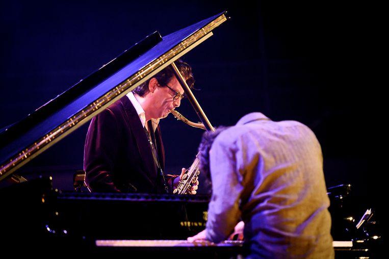 Saxofonist Yuri Honing en pianist Wolfert Brederode.   Beeld Jelmer de Haas