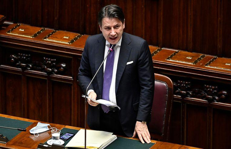 Italiaans premier Giuseppe Conte. Beeld AP