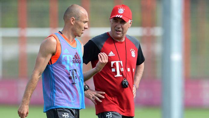 Ancelotti mag Robben binnenkort opnieuw verwelkomen op training.
