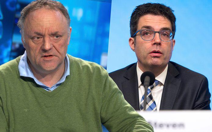 Les virologues Marc van Ranst en Steven Van Gucht.