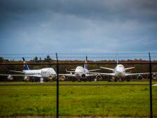 Boeings 747 op Twente Airport lijken ineens op gevangen vogels