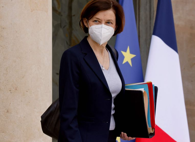 De Franse minister van defensie Florence Parly  Beeld AFP