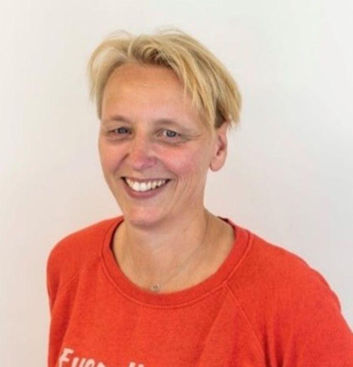 Petra Groenland zit zondag al als de nieuwe trainer/coach van Team Eurosped op de bank tijdens het duel tegen FAST.