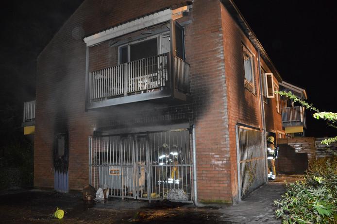 Brand bij Hogerhuis in Dronten