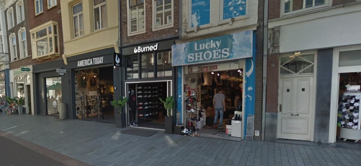 Basketbalmerk Burned met een winkel aan de Hinthamerstraat is failliet.