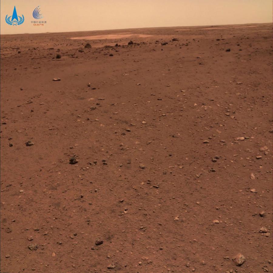 Uitzicht van Mars.