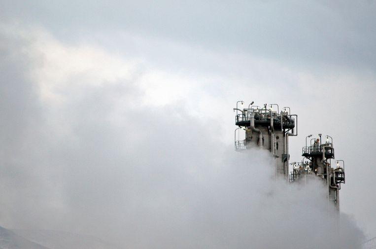 Een nucleaire installatie in Iran.  Beeld AP