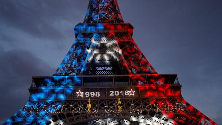 Franse feestvreugde in Moskou en Parijs na tweede wereldtitel